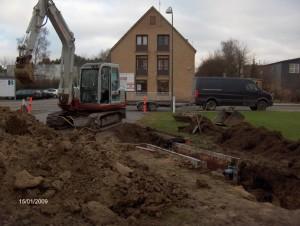 Etablering af ny kloak-stikledning i Herlev