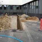 Installation af pumpebrønd for nye toiletter i kælder, Ballerup