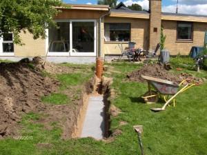 Etablering af ny Faskine med regnvandskassetter i Skovlunde