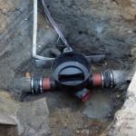 Montering af ny spulebrønd på eks. betonledning i Lynge