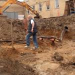 Udgravning for ny rampe i Herlev