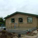 Støbning af ny tilbygning i Skovlunde