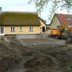 Støbning af tilbygning i Lynge