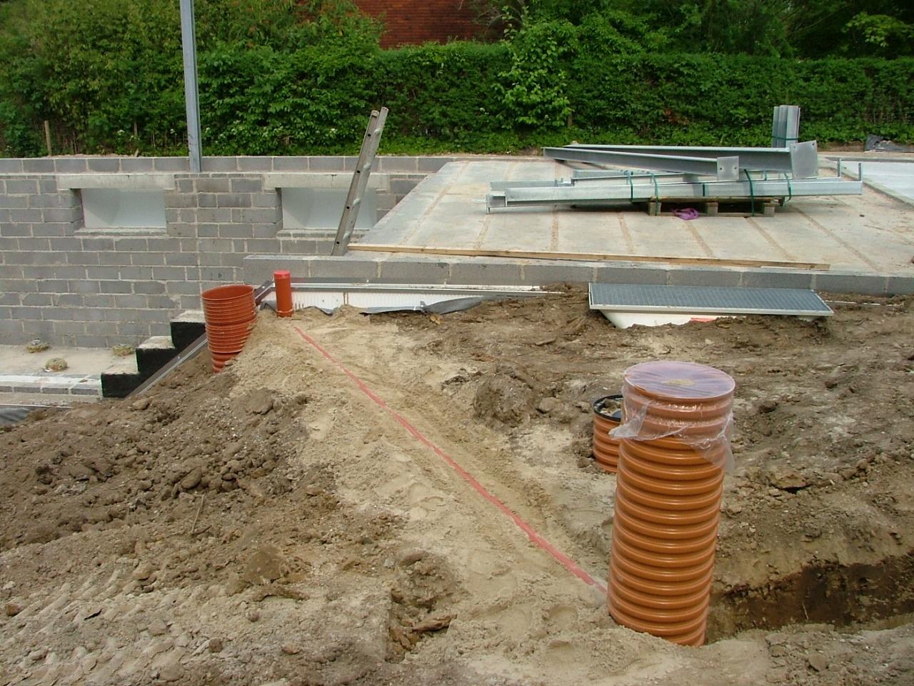 Støbning af kælder i Gentofte